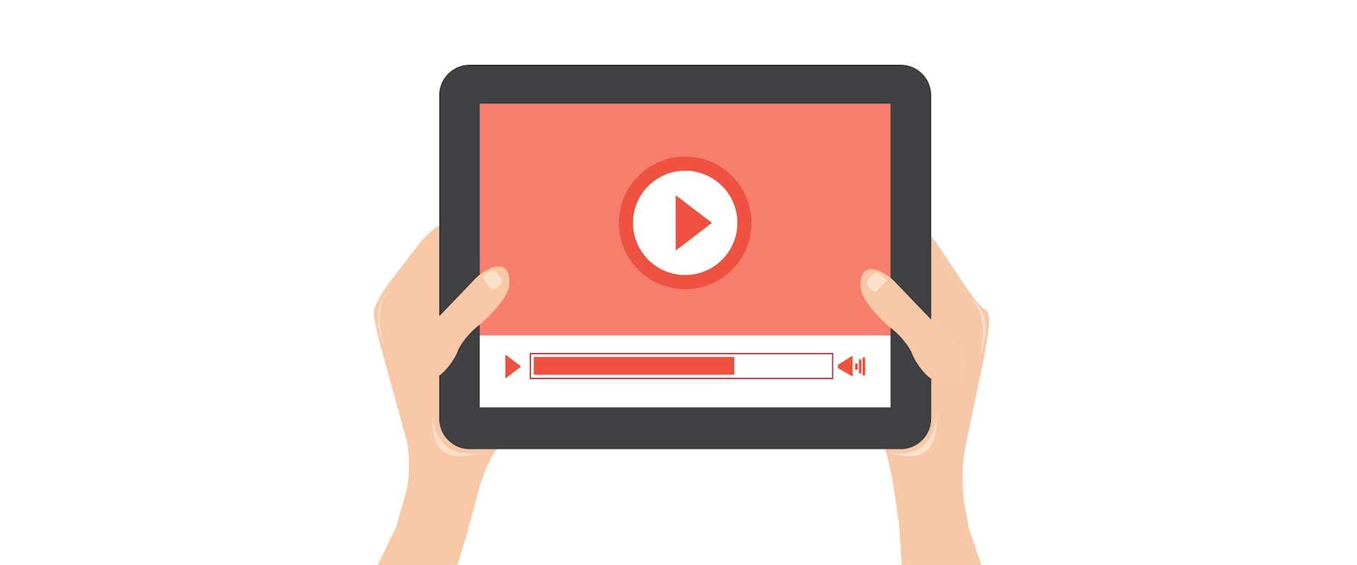 Reklamy video, tablet