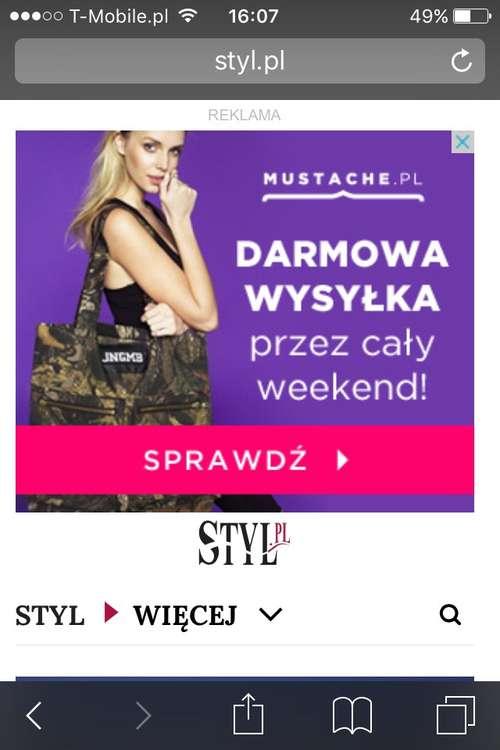 Reklama na mobilnej stronie styl.pl